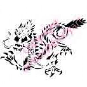 0268 chinese dragon reusable stencil